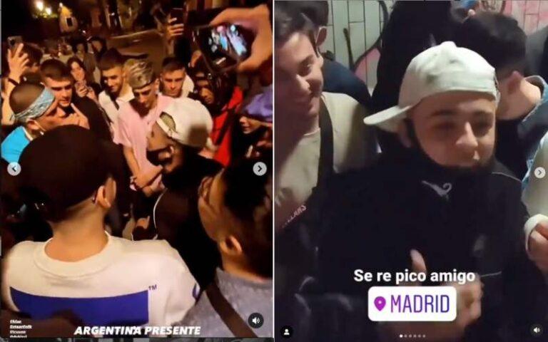 Trueno, Duki, Lucho SSJ, Klan y Bizarrap: freestyle puro en las calles de Madrid | VIDEO